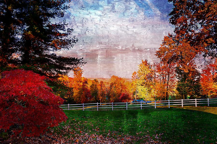 Autumn Scenes Photograph - View From Sugarland Heights by Julie Dant