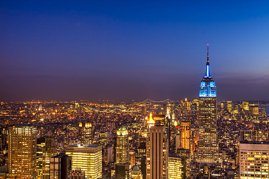 View From The Top - Nyc Skyline Photograph  - View From The Top - Nyc Skyline Fine Art Print