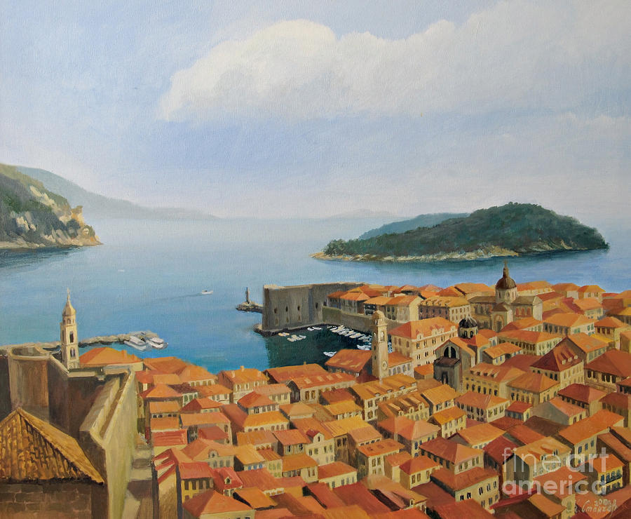 View From Top Of The World Painting  - View From Top Of The World Fine Art Print