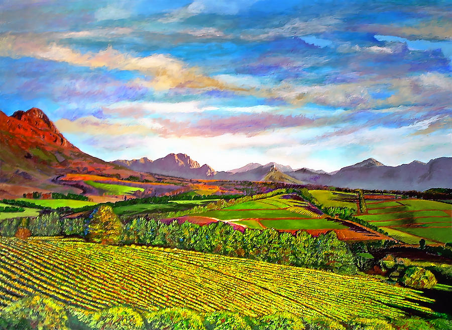 View From Warwick Vineyard Painting
