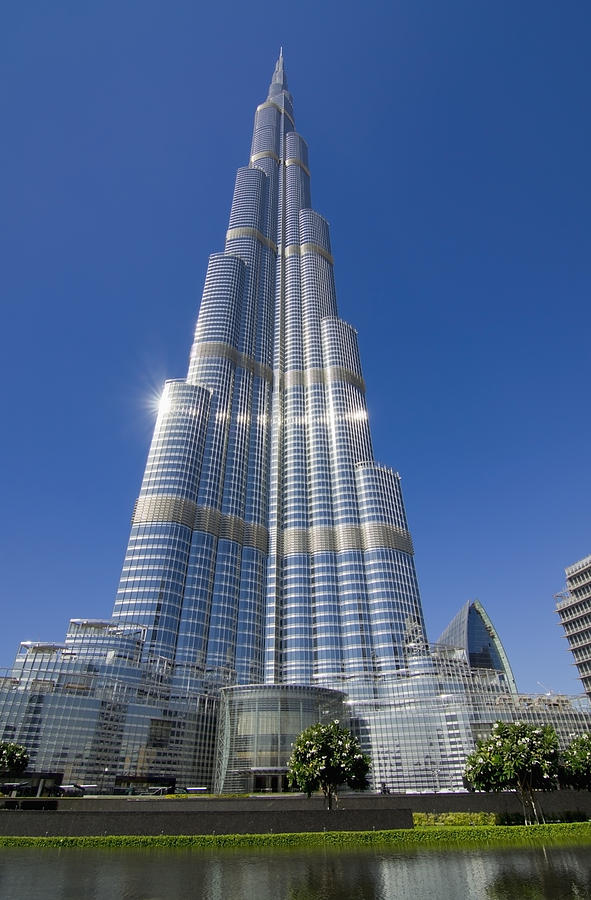View of burj khalifa hotel dubai photograph by charles bowman for Dubai hotels near burj khalifa