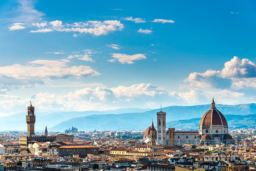 Italian Florence: View Of Florence From Piazzale Michelangelo Photograph By