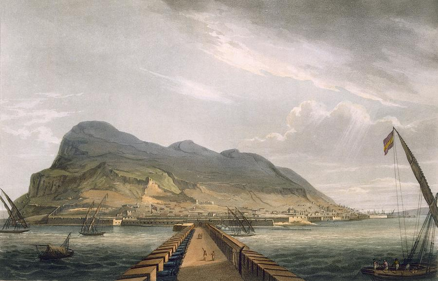 View Of Gibraltar Drawing