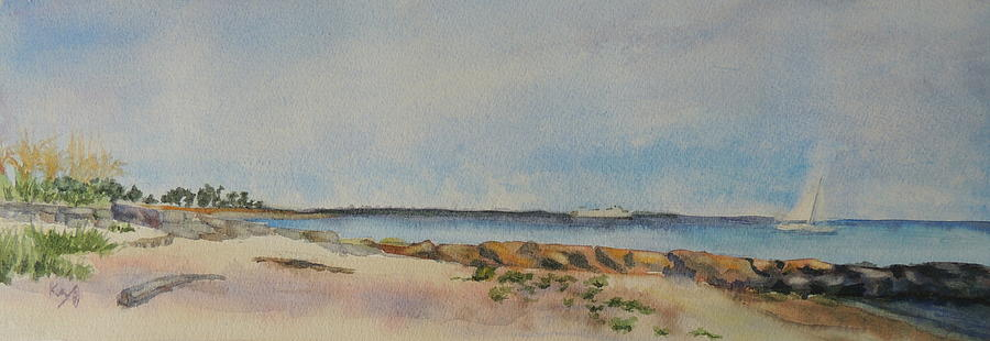 View Of Harkness Park From Seaside Waterford Ct Painting