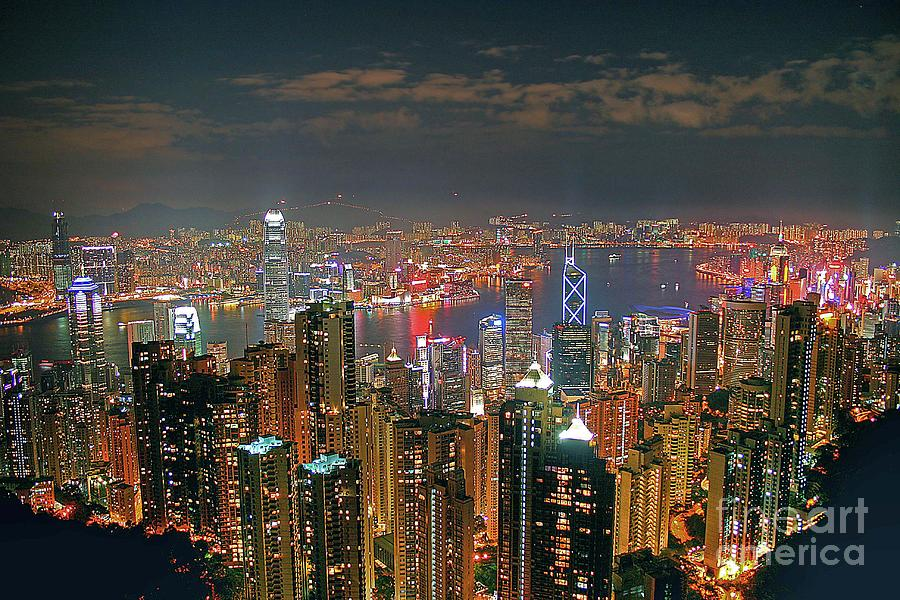 View Of Hong Kong From The Peak Photograph