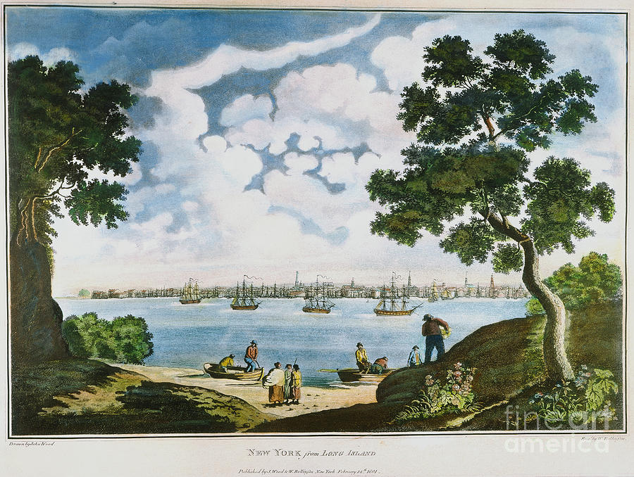 View Of New York 1801 Painting  - View Of New York 1801 Fine Art Print