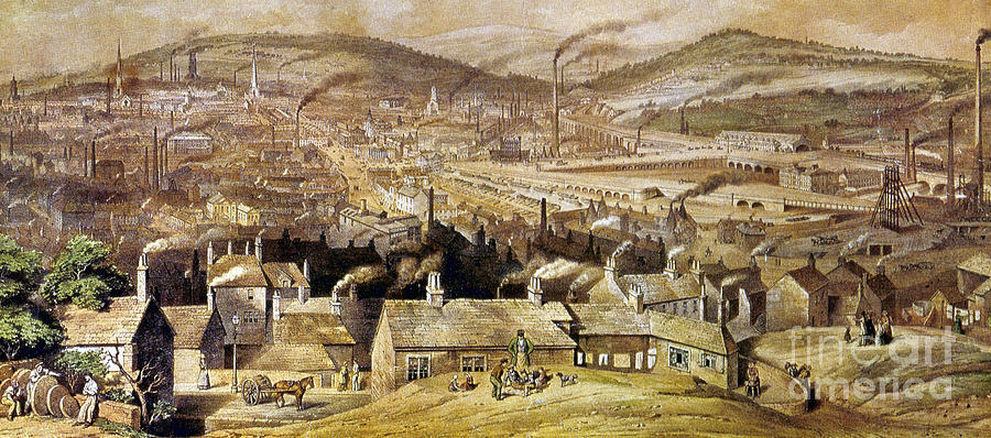 View Of Sheffield England Painting  - View Of Sheffield England Fine Art Print