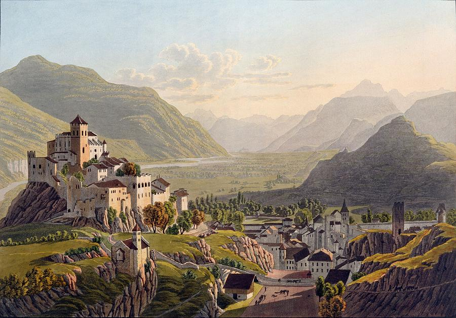 View Of Sion, Illustration From Voyage Drawing