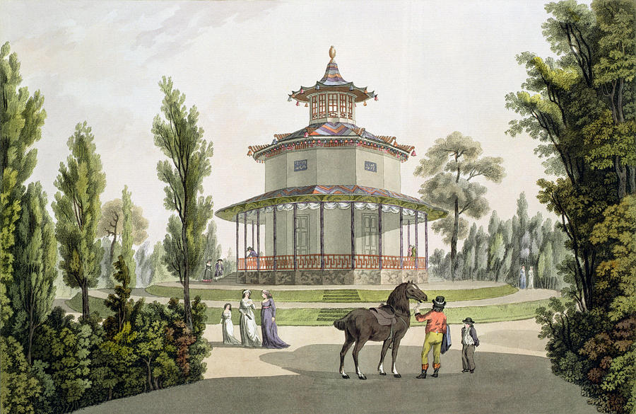 Austrian Garden Drawing - View Of The Chinese Summer House by Laurenz Janscha