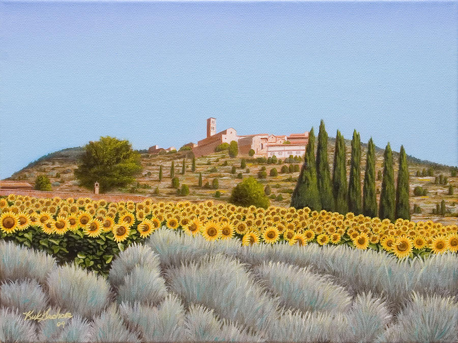 Cortona Italy  City pictures : Italy Painting View Of The Duomo Cortona Italy by Kirk Graham