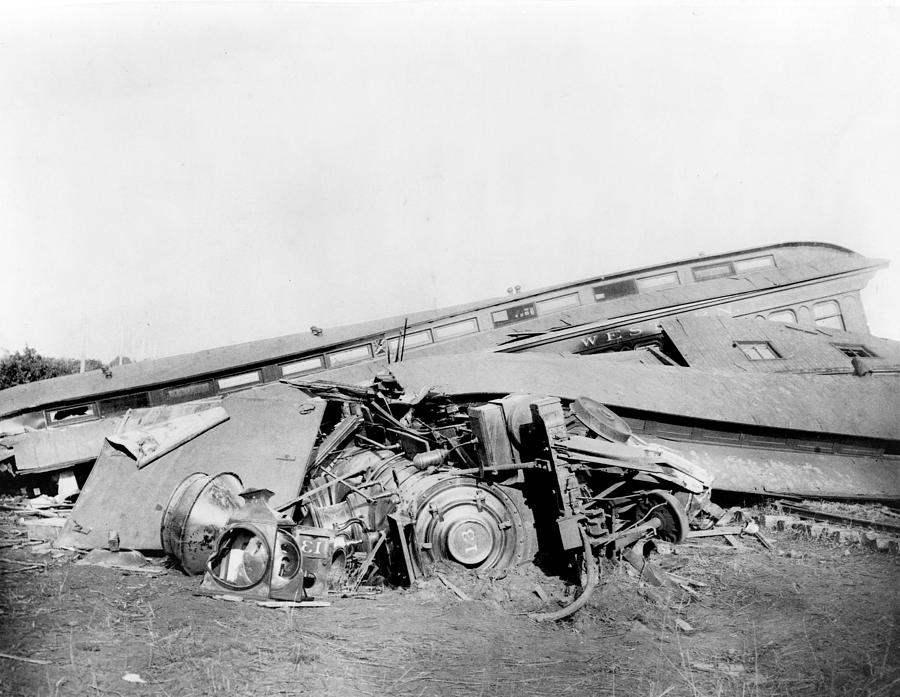 View Of The Great Railroad Wreck Photograph