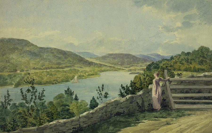 View Of The Hudson Circa 1817 Drawing