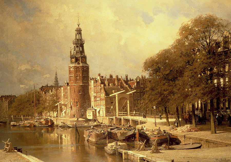 View Of The Kalk Market In Amsterdam Painting