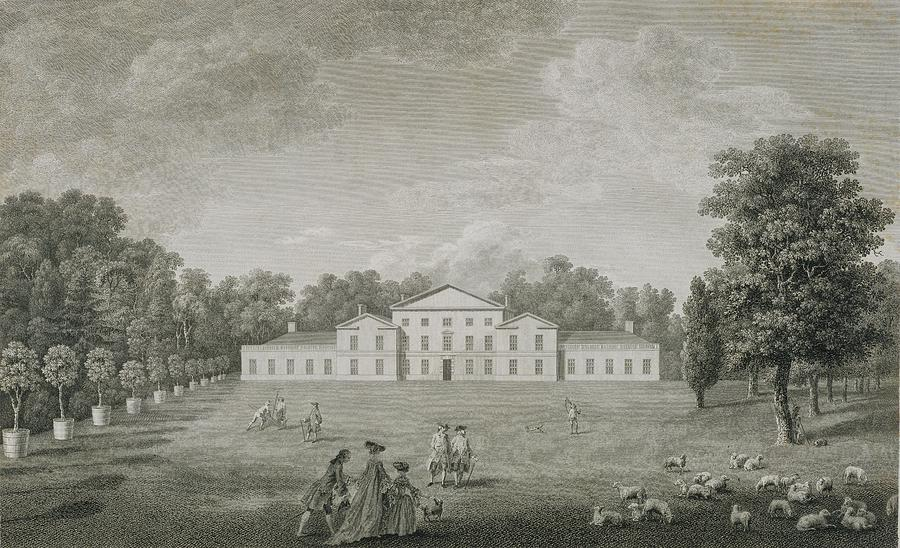 View Of The Palace At Kew Drawing