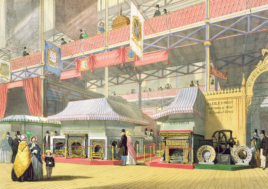 Crystal Palace Drawing - View Of The Sheffield Hardware Stand by English School