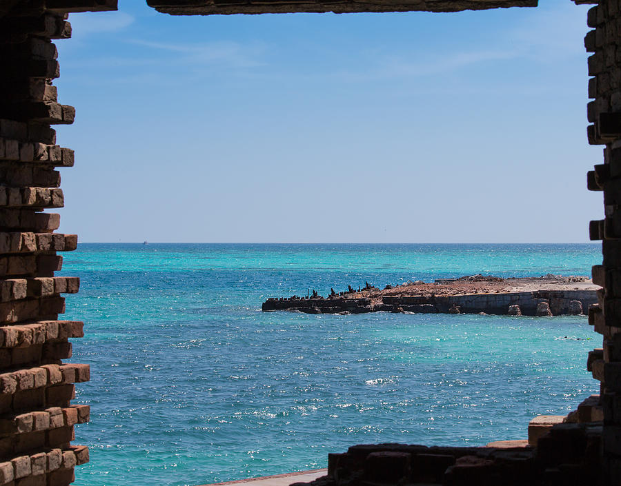 View Through The Walls Of Fort Jefferson Photograph