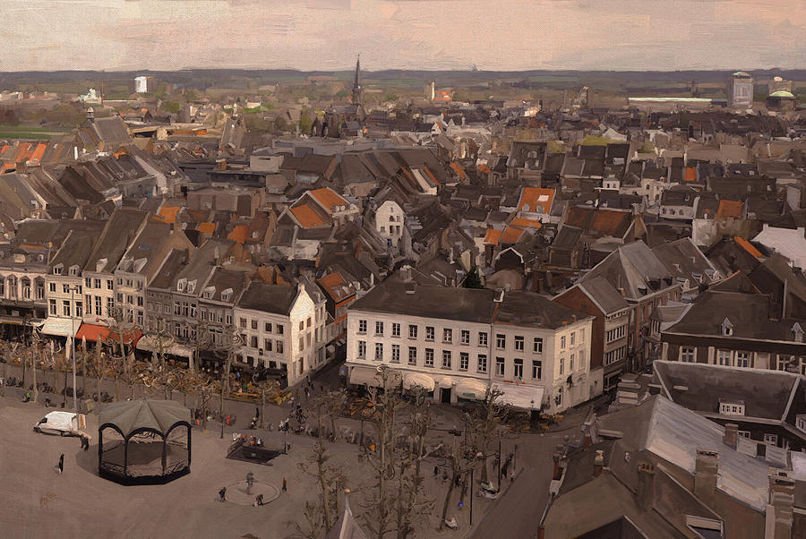 View To The East In Maastricht Painting