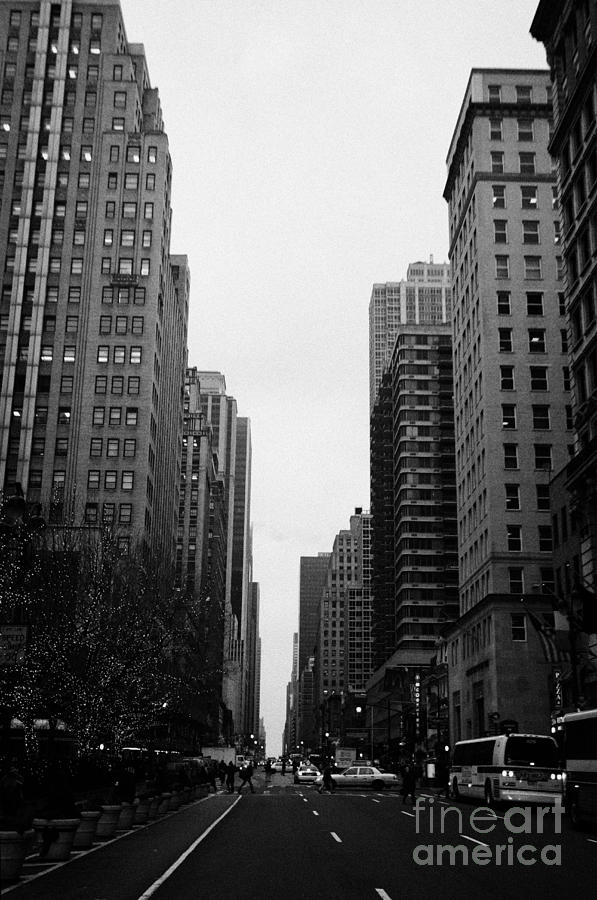 View Up 6th Ave Avenue Of The Americas From Herald Square In The Evening New York City Winter Photograph  - View Up 6th Ave Avenue Of The Americas From Herald Square In The Evening New York City Winter Fine Art Print