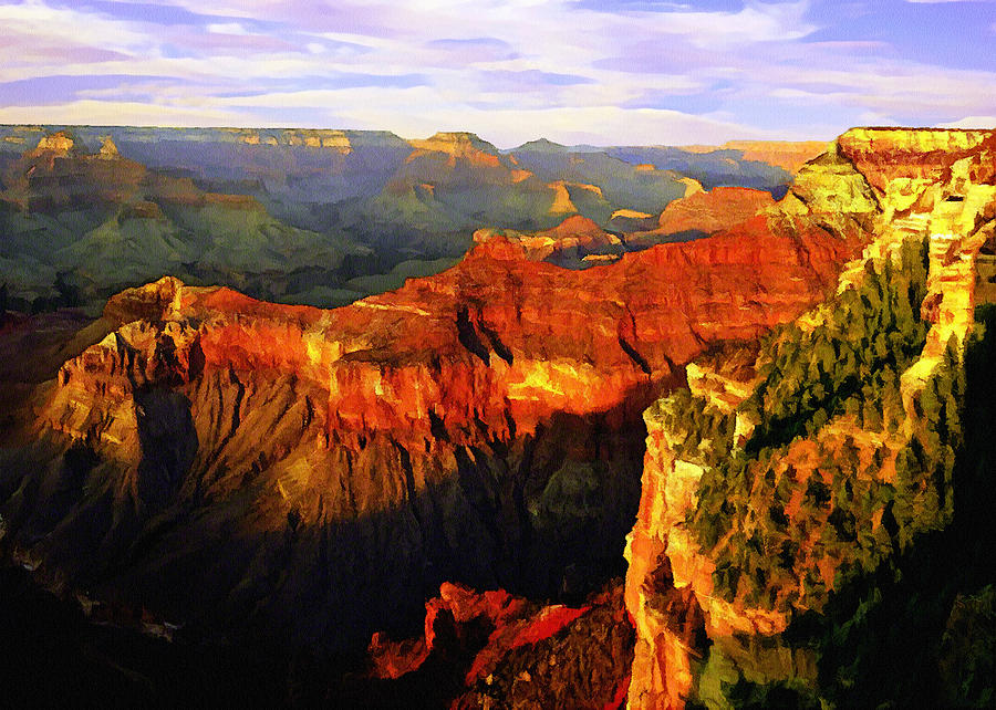Abyss Painting - View - Yavapai Point by Bob and Nadine Johnston