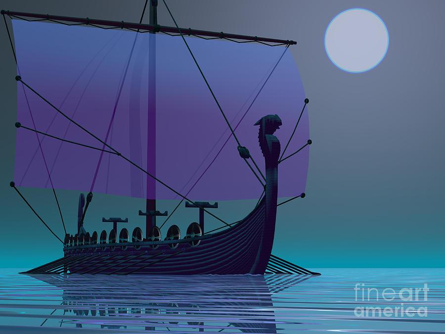 Viking Journey Painting