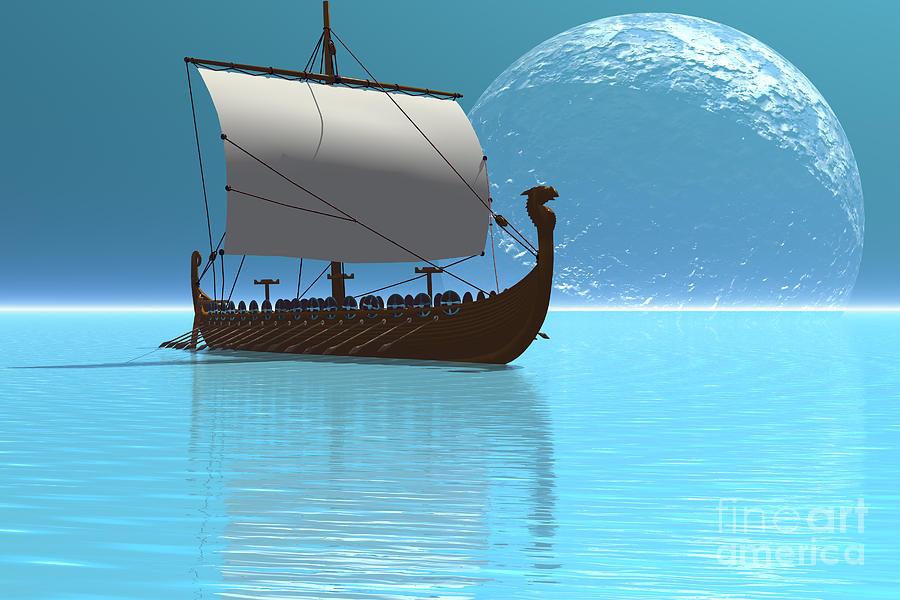 Viking Ship 2 Painting