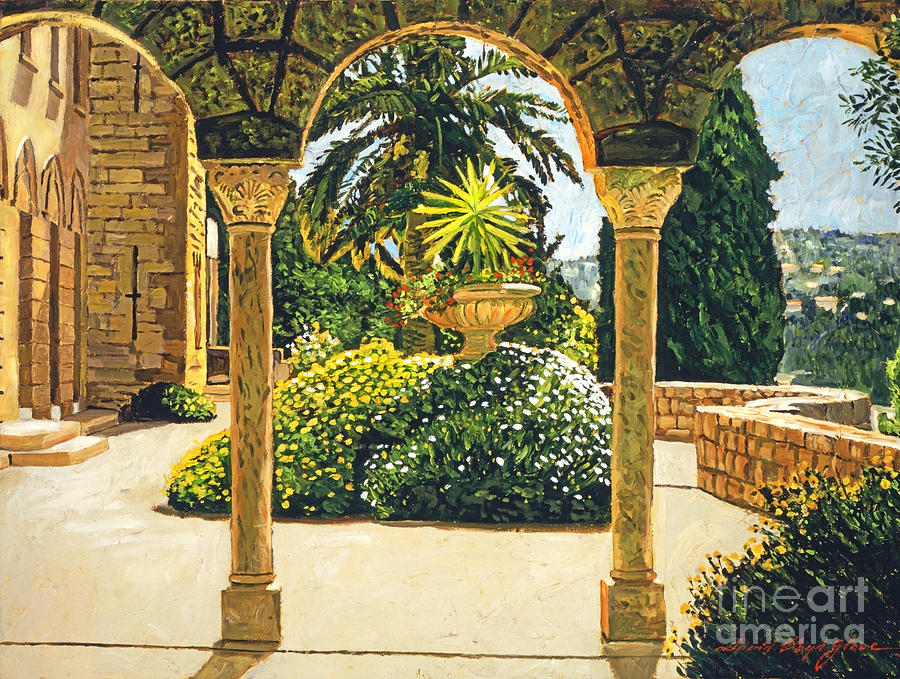 Villa On The Riviera Painting  - Villa On The Riviera Fine Art Print