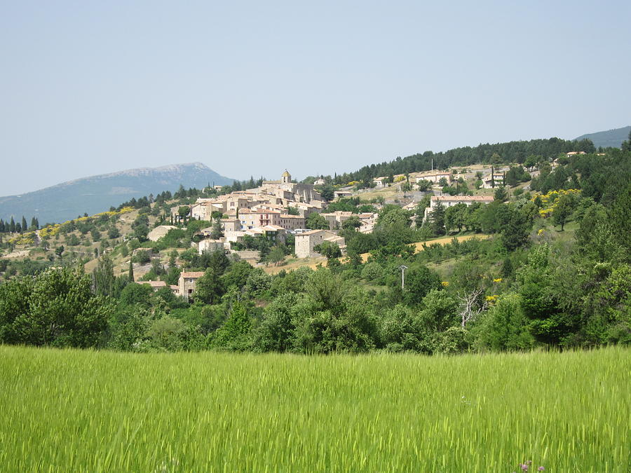 Village Beyond The Wheat Field Photograph