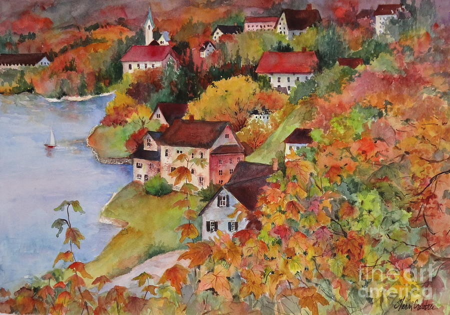 New England Painting - Village By The Sea by Sherri Crabtree