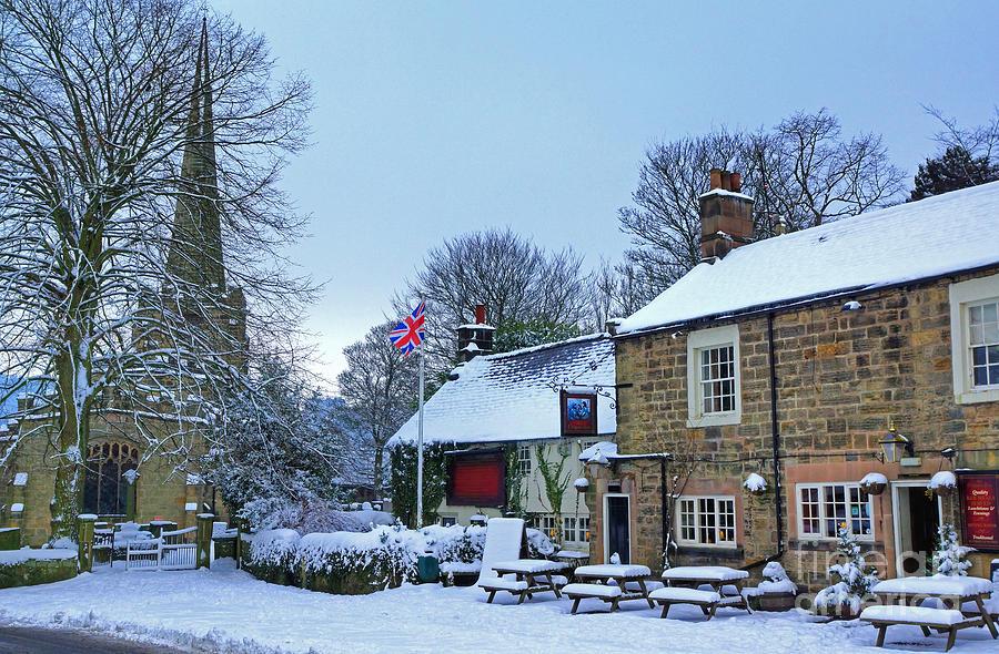 Village Photograph - Village Church And Pub by David Birchall