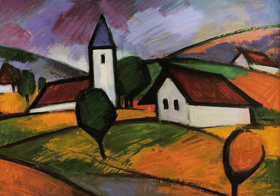 Village  Painting  - Village  Fine Art Print