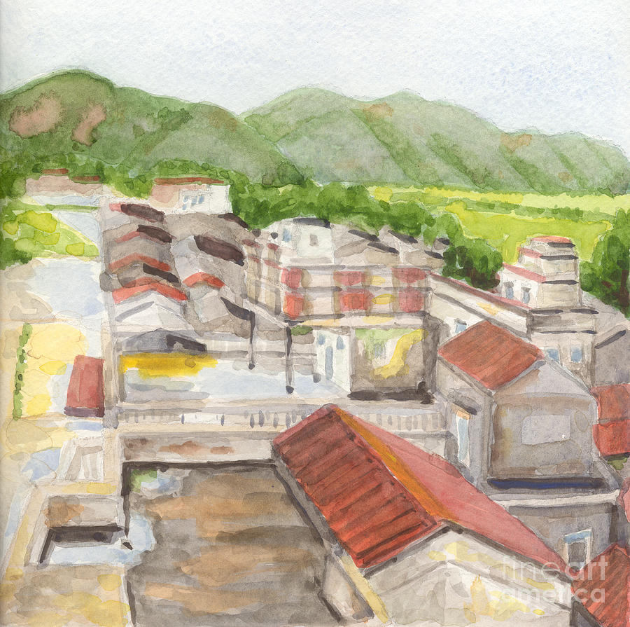 China Painting - Village by Lilibeth Andre