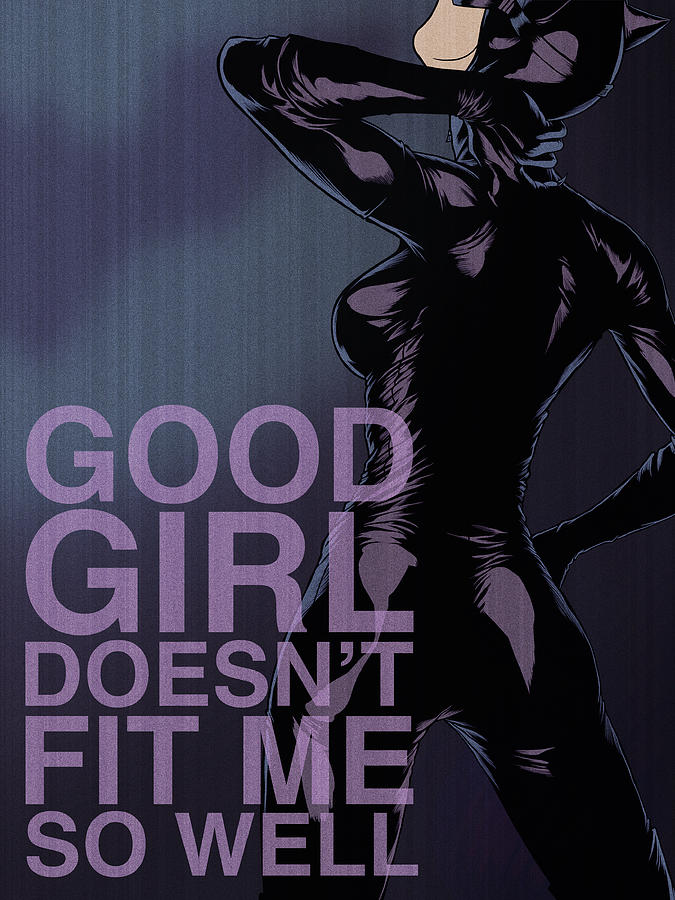 Villains Poster - Catwoman Digital Art