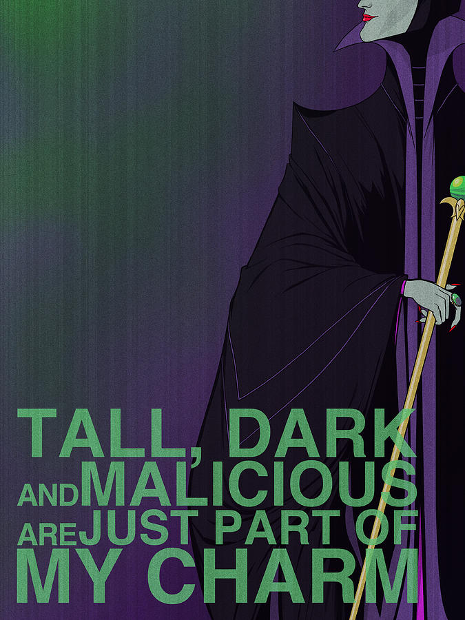Villains Poster - Maleficent Digital Art