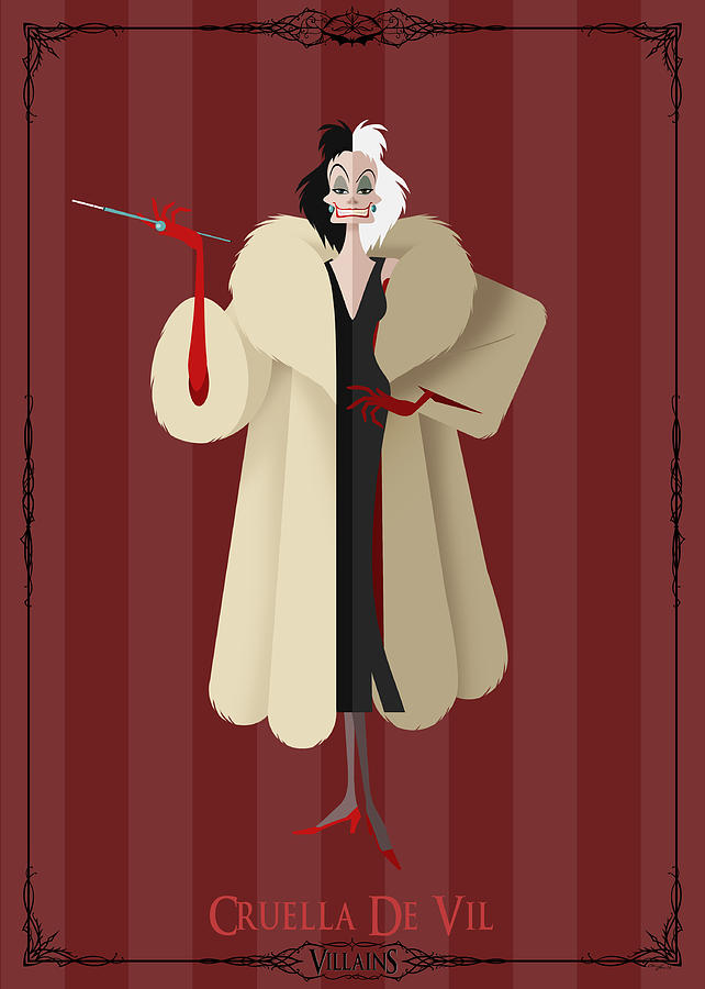 Villains Trading Card-cruella De Vil Digital Art
