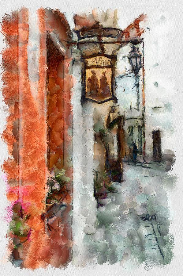 Vilnius Old Street Walk 2 Digital Art