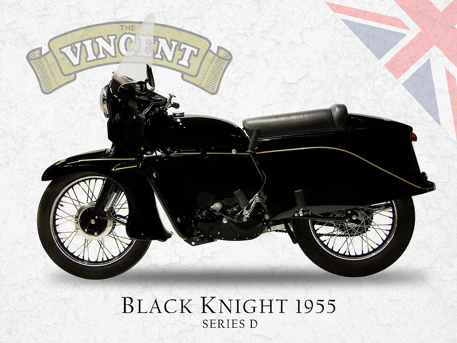 Vincent Black Knight 1955 Photograph