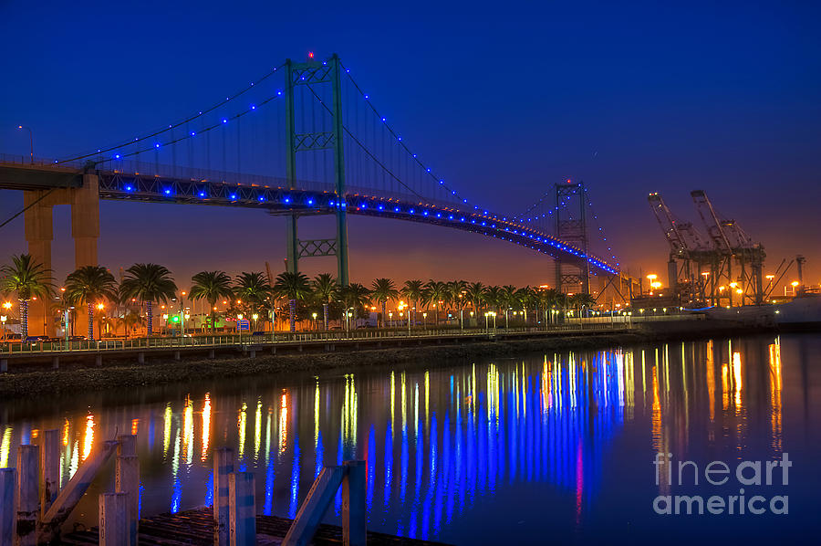 Vincent Thomas Bridge Photograph  - Vincent Thomas Bridge Fine Art Print