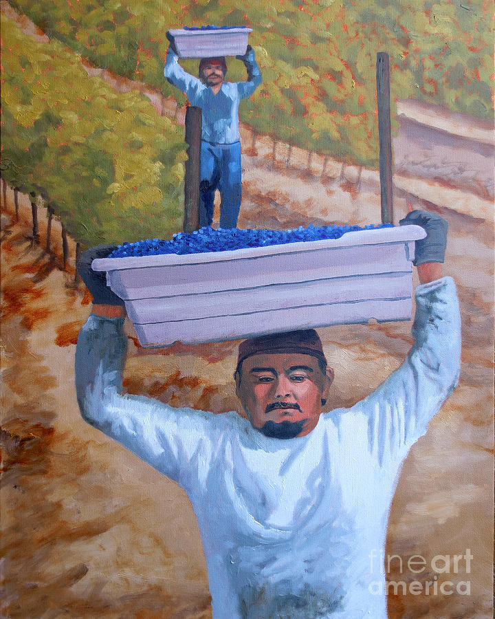 Vineyard Harvest II Painting  - Vineyard Harvest II Fine Art Print