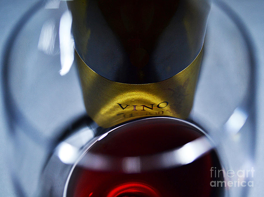 Vino Reflections Photograph  - Vino Reflections Fine Art Print