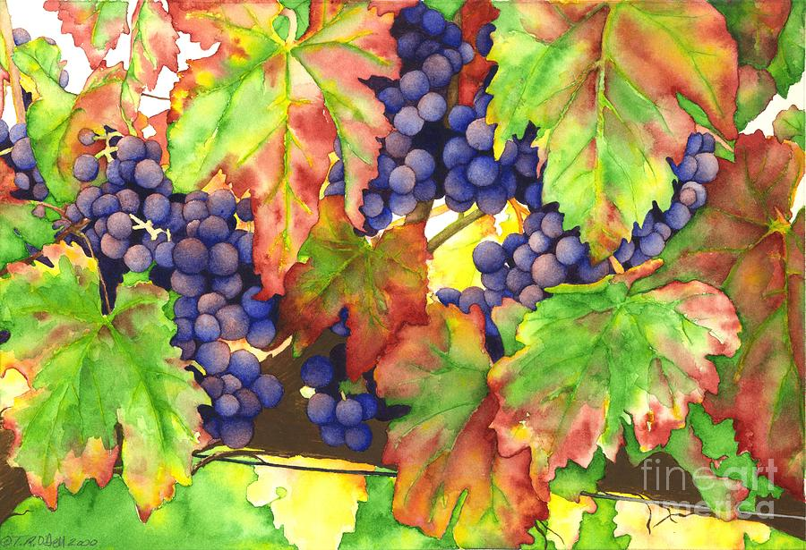 Riesling Painting - Vinous by TR ODell