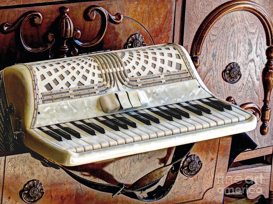 Vintage Accordion Photograph