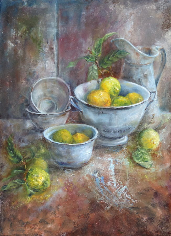 Vintage And Lemons Painting
