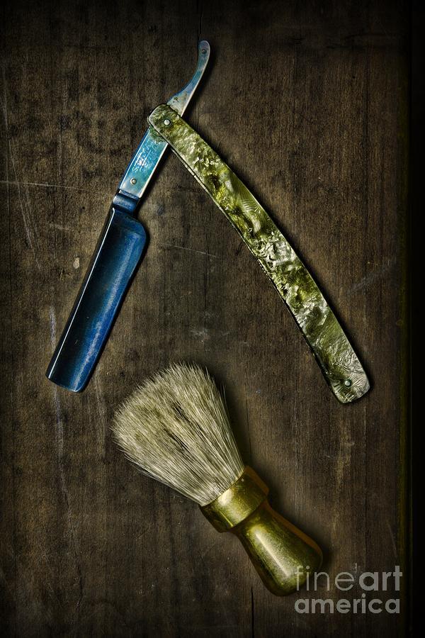 Vintage Barber Tools Photograph