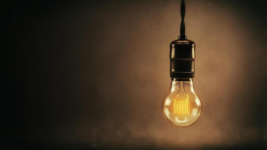 Vintage Bright Idea Digital Art