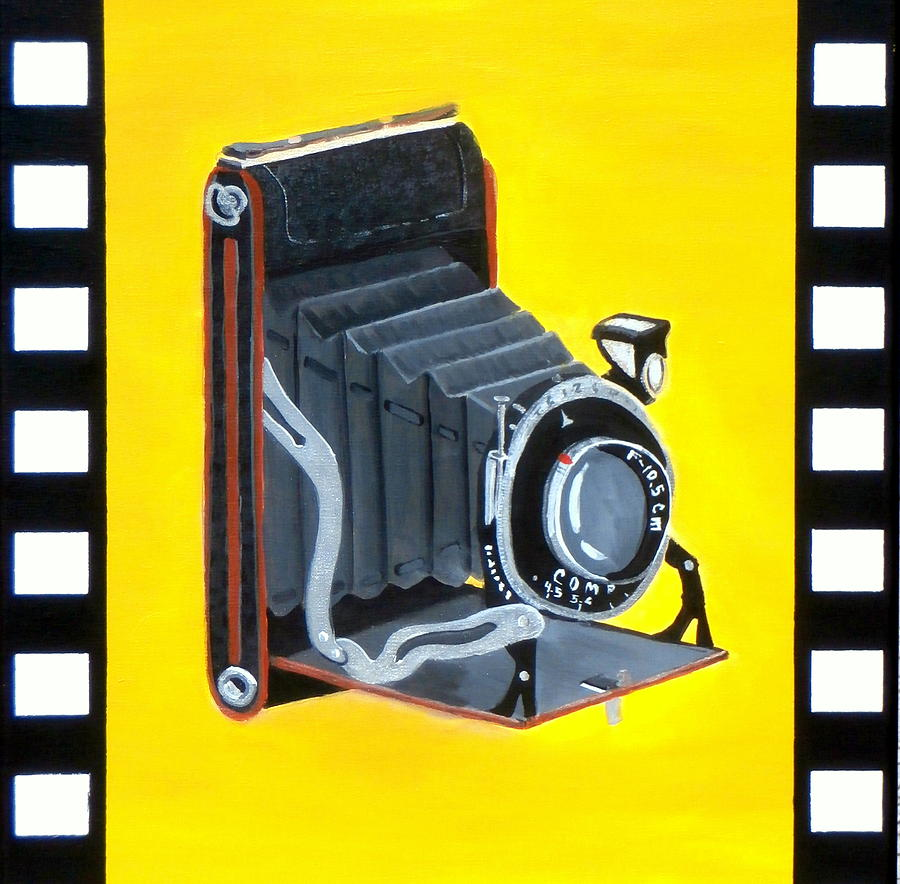 Vintage Camera Painting