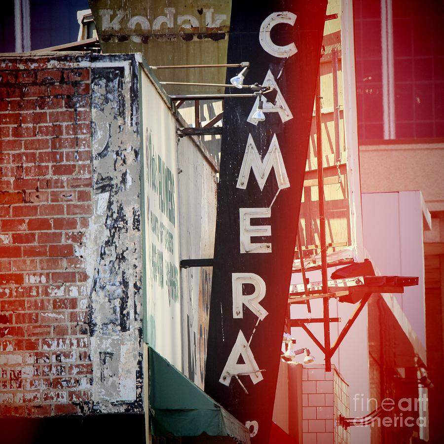 Vintage Camera Sign Photograph