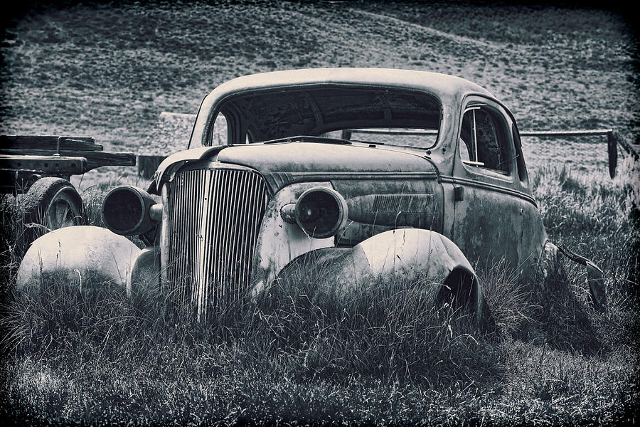 Vintage Car At Bodie Photograph