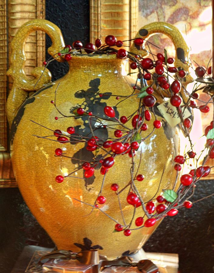 Vintage Photograph - Vintage Ceramic Urn by Linda Phelps