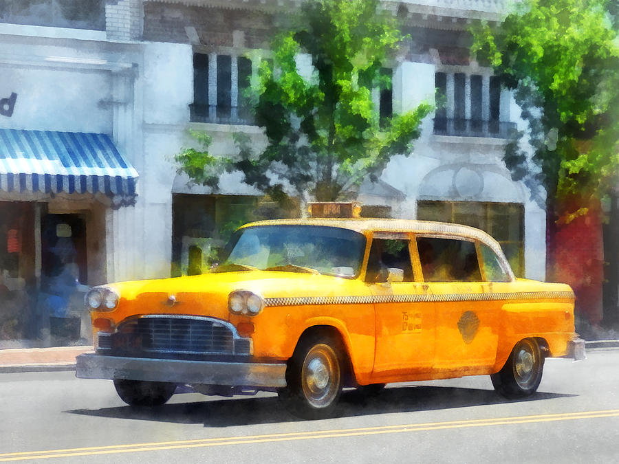 Cab Photograph - Vintage Checkered Cab by Susan Savad