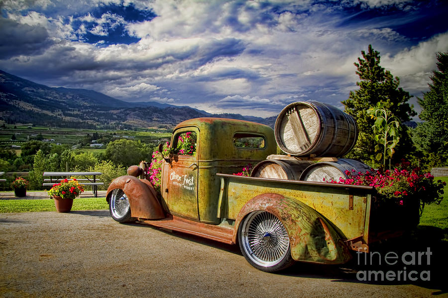 Vintage Chevy Truck At Oliver Twist Winery Photograph